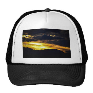 sun clouds and moutains mesh hats