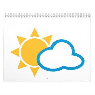 Sun clouds calendar