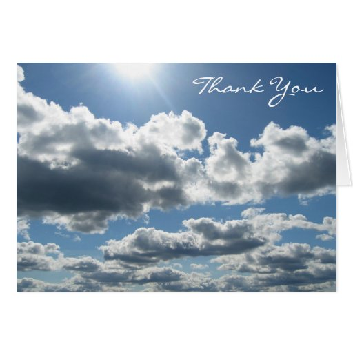 Sun Clouds Greeting Cards