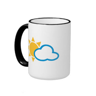 Sun clouds coffee mugs