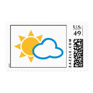Sun clouds postage stamps