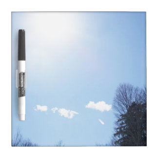 Sun Clouds Tree Tops Dry-Erase Board