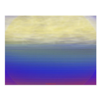 Sun clouds waves post card