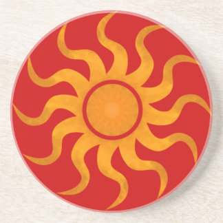 Sun Coaster 6 - Red Background