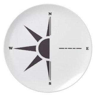 Sun Compass Plate