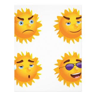 Sun con diversas emociones membretes personalizados
