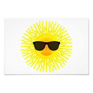 Sun con el dibujo animado de las gafas de sol arte fotografico