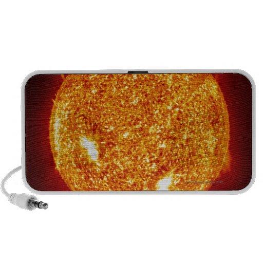 Sun con las llamaradas solares sistema de altavoz