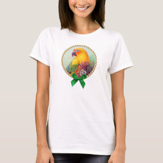Sun conure and flowers T-Shirt