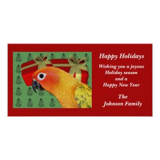 Sun Conure Parrot Animal Christmas Holiday Card