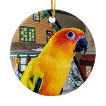 Sun Conure Parrot Christmas Ornament