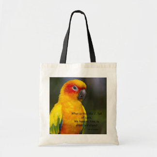 Sun Conure Parrot with text Bag