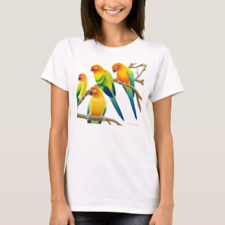 Sun Conure Parrots Ladies Baby Doll T-Shirt