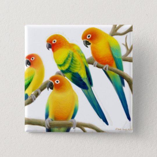 Sun Conure Parrots Pin