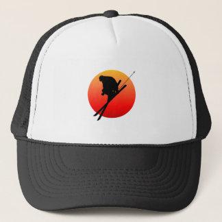 Sun cool skiing trucker hat