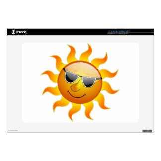 Sun Cool Sunshine Glossy Smile Summer Heat Laptop Skins