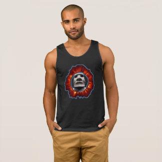 Sun Corona Judgemental Tiki Moai Logo Tank Top