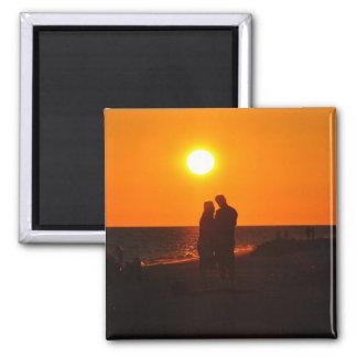 Sun Couple Silhouette Love Sanibel Sunset Magnet