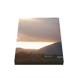 Sun Cracks Picture on Wrapped Canvas
