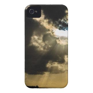 Sun creciente durante eclipse solar Case-Mate iPhone 4 carcasa