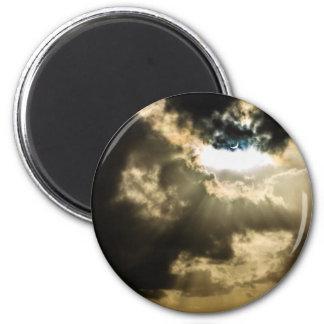 Sun creciente durante eclipse solar imán redondo 5 cm