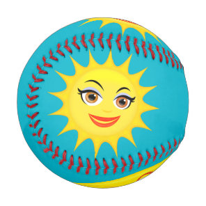 sun crescent moon star blue sky baseball