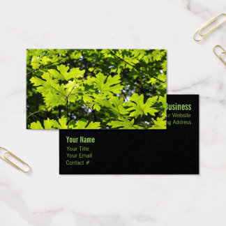Sun-Dappled Leaves in the Forest Business Card