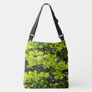 Sun-Dappled Leaves in the Forest Crossbody Bag