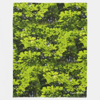 Sun-Dappled Leaves in the Forest Fleece Blanket