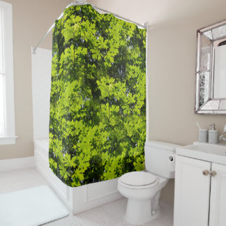 Sun-Dappled Leaves in the Forest Shower Curtain