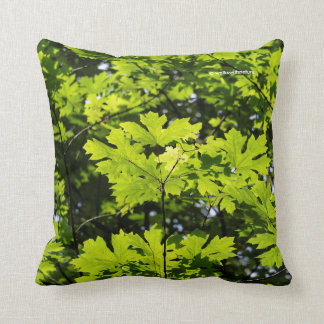 Sun-Dappled Leaves in the Forest Throw Pillow