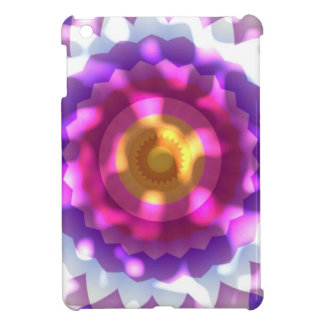 Sun Dappled Pink Purple Flower Kaleidoscope iPad Mini Cover