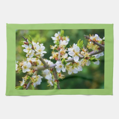 Sun-Dappled Spring Hawthorn Hand Towels