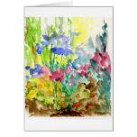 Sun Dappled Watercolor Flower Garden Card