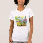 Sun Dappled Watercolor Flower Garden T Shirt