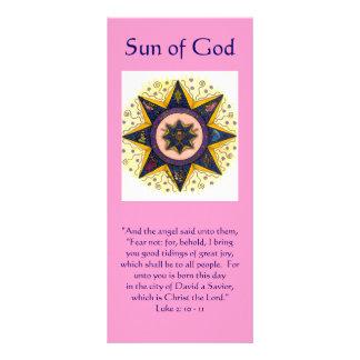 """Sun de dios 001, """"y el ángel dijo a ellos,… lona"""