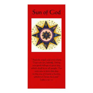 """Sun de dios 001, """"y el ángel dijo a ellos,… tarjeta publicitaria"""
