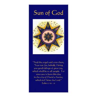 """Sun de dios 001, """"y el ángel dijo a ellos,… lonas personalizadas"""