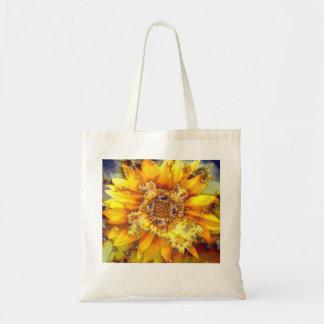 Sun de florecimiento - bolso que lleva del tote bolsa tela barata