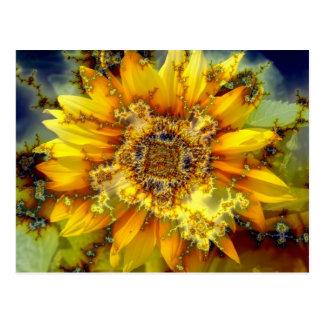 Sun de florecimiento postales