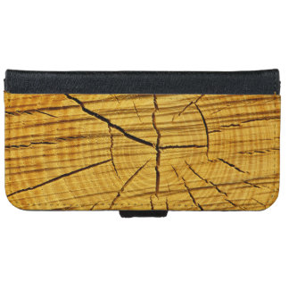 Sun de la madera funda cartera para iPhone 6