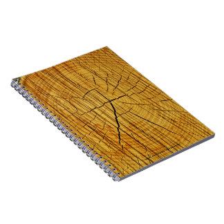 Sun de la madera libros de apuntes con espiral