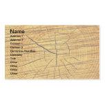 Sun de la madera tarjetas de visita