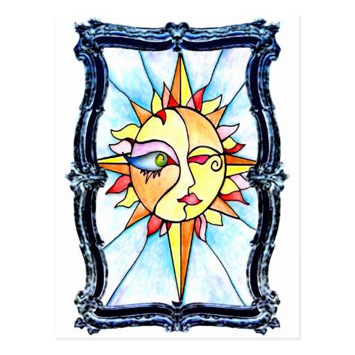 Sun de mármol tarjeta postal