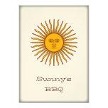 Sun de oro del fiesta del Bbq de mayo invita Invitación 12,7 X 17,8 Cm