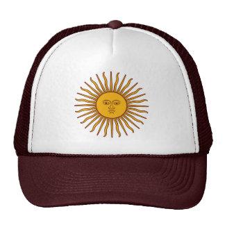 Sun de oro del gorra de la playa de la bandera de