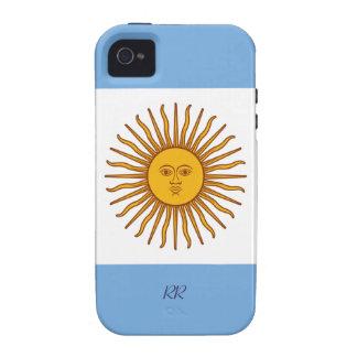 Sun de oro en el iPhone 4/4S de la bandera de la Case-Mate iPhone 4 Carcasas