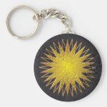 Sun de oro llaveros personalizados