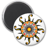 Sun de una cesta imán redondo 5 cm