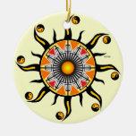 Sun de una cesta ornaments para arbol de navidad